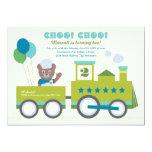 Boy's Birthday Party Invitation   Vintage Train