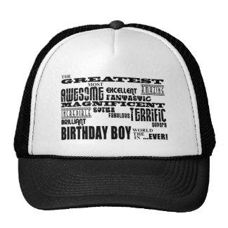 Boys Birthdays : Greatest Most Birthday Boy Mesh Hat