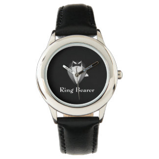 Boy's Black Tux Ring Bearer Kid's Adjustable Watch