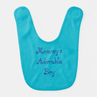 Boy's Blue Baby Bib