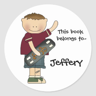 Boy's bookplate sticker