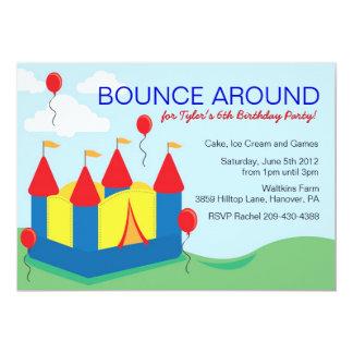Boys Bounce House Birthday Party Invitations