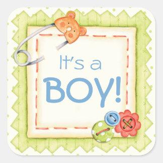 Boys, Buttons & Bears Baby Sticker