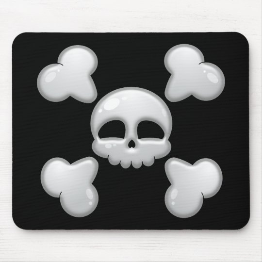 Boy's Cartoon Skull Mousepad