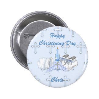 Boys Christening Wish Buttons