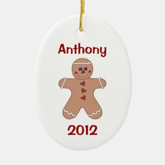 Boy's Christmas Gingerbread Ornament