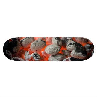 Boy's Coal Hot Skateboard Orange Black & Gray