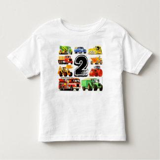 Boy's Construction Truck 2nd Birthday T Shirt