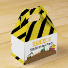 Boys Construction Vehicles Theme Birthday Party Favour Box