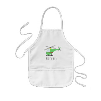 Boy's Cool Doodle Cool Helicopter & Name Kids Apron