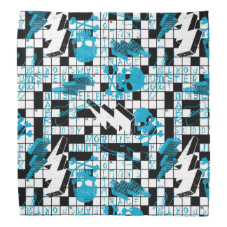 Boy's crossword puzzle bandana