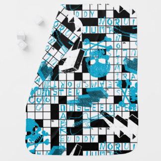 Boy's crossword puzzle buggy blanket