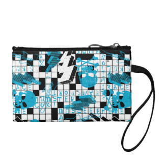 Boy's crossword puzzle coin purse