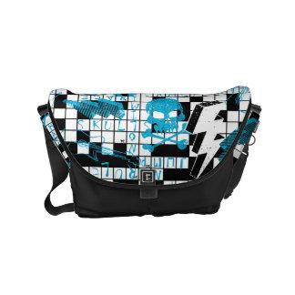 Boy's crossword puzzle messenger bag