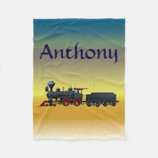 Boy's Custom Name Train Set Fleece