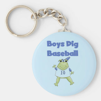Boys Dig Baseball T-shirts and Gifts Basic Round Button Key Ring