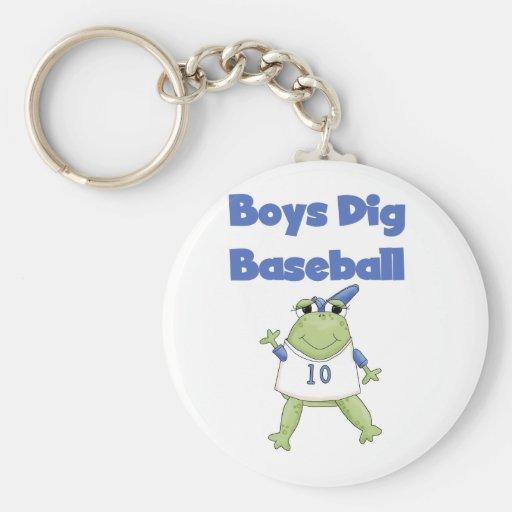 Boys Dig Baseball T-shirts and Gifts Key Chains