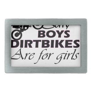 boy's dirt bikes are for girls belt buckles
