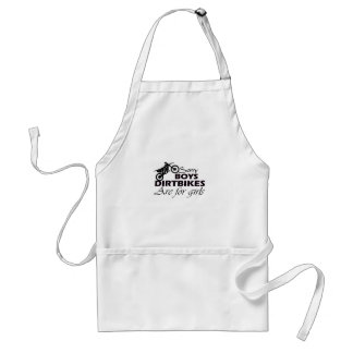 boy's dirt bikes are for girls standard apron