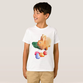 "Boy's ""EASTER BUNNY"" T-shirt (White)"