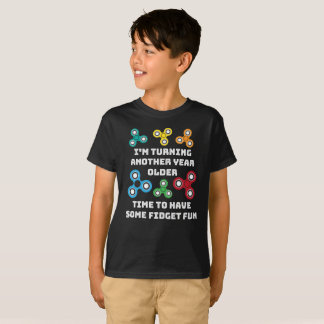 Boy's Fidget Spinner Birthday Party T-Shirt