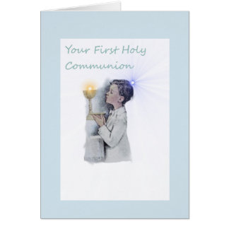 Boys First Holy Communion Greeting Card