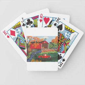 Boys Fishing Under The Covered Bridge Bicycle Playing Cards
