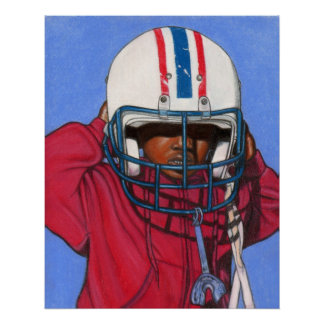 Boys Football Print / Poster ~ Ethnic ~ Sports
