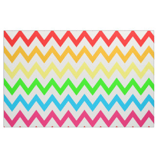 Boys Girls Bright Colorful Chevron Rainbow Fabric