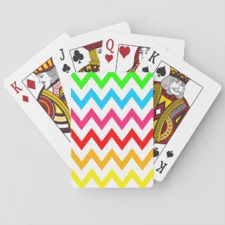 Boys Girls Bright Colorful Chevron Rainbow Playing Cards