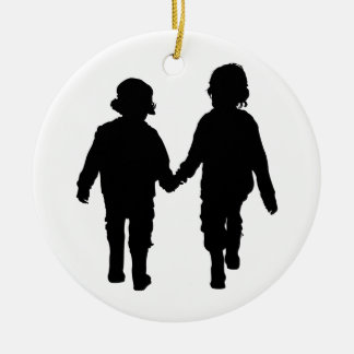 Boys Holding Hands Ornament