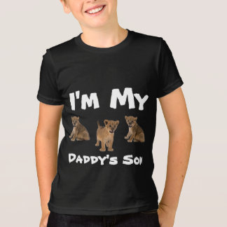 Boys I'm My Daddy Son Black T-Shirt