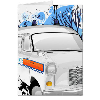 Boys In Blue - Retro Police Van 1988 Card
