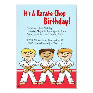 Boys Karate Chop Party Invitations