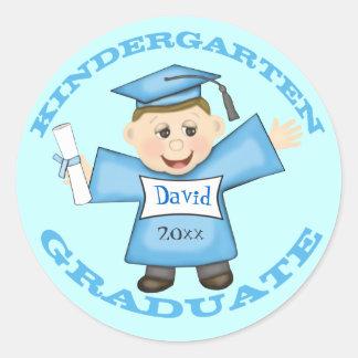 Boy's Kindergarten  Graduation Stickers