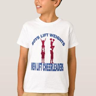 BOYS LIFT WEIGHTS MEN LIFT CHEERLEADERS T-Shirt