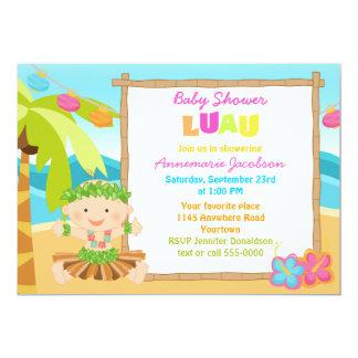 Boys Lua Baby Shower 13 Cm X 18 Cm Invitation Card