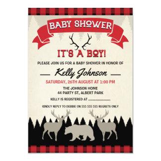 Boys Lumberjack Baby Shower Invitation