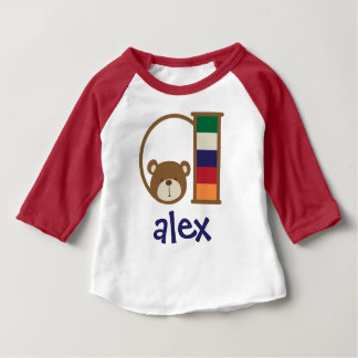 Boys Monogram Shirt Baby Boy Bear Tshirt Initial a