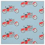 Boys motorcycle motif fabric