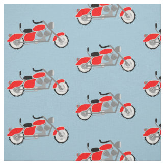 Boys motorcycle motif fabric