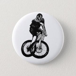 Boys mountain bike T Shirt presents MTB 6 Cm Round Badge