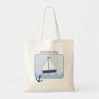 Boy's Nautical Budget Tote Bag