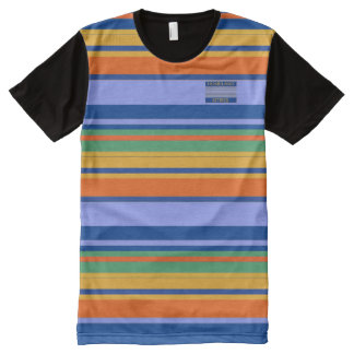 Boys or Teenager Panel Colors Striped T-Shirt