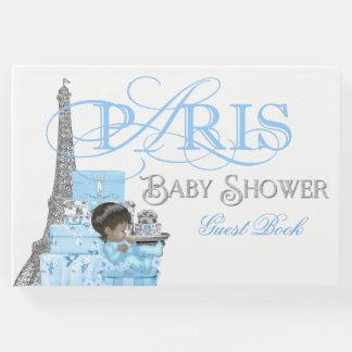Boys Paris Baby Shower Guest Book