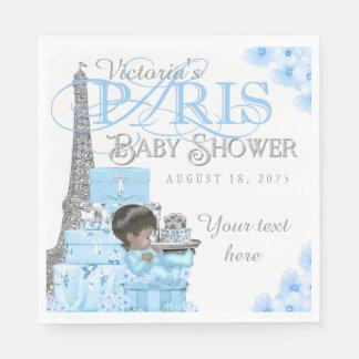Boys Paris Baby Shower Napkins Disposable Napkin