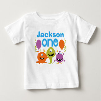 Boy's Personalized Monsters 1st Birthday T-shirt