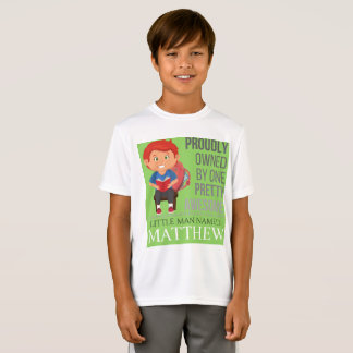"Boy's Personalized Shirts ""Green Reader"""