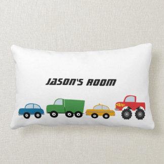Boys Personalized Transport Vehicles Lumbar Pillow