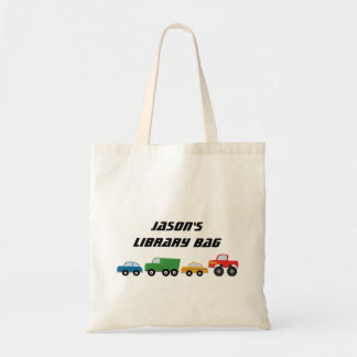 Boys Personalized Vehicles Tote Bag